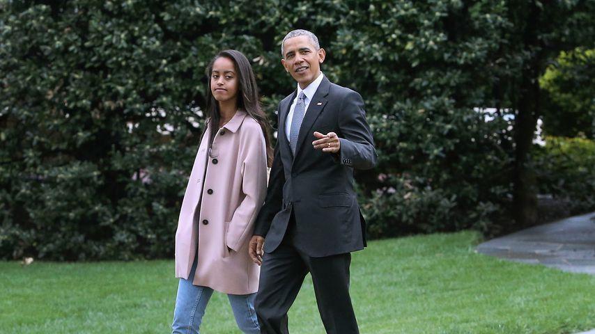 Malia und Barack Obama im April 2016