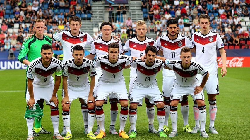 Mannschaftsfoto der deutschen U21