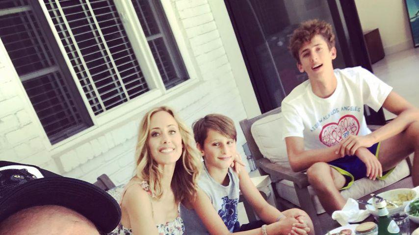 Manu Boyer, Kim Raver und ihre zwei Söhne