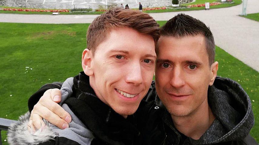 Manuel Flickinger und sein Freund Filip