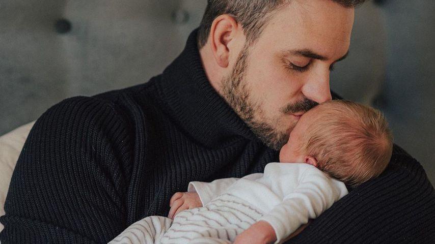March Barthel und sein Sohn Leo im Dezember 2019