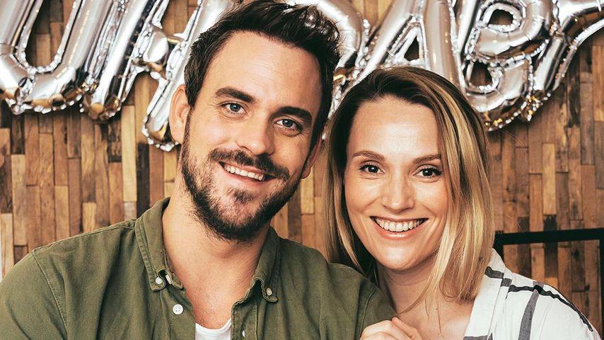 Marc Barthel und Anna Hofbauer mit Baby Leo