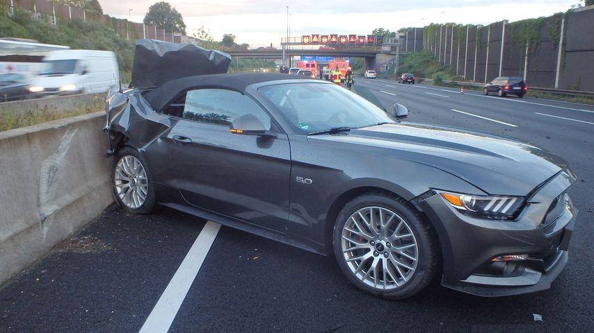 Marco Högers Auto nach dem Unfall im August 2016
