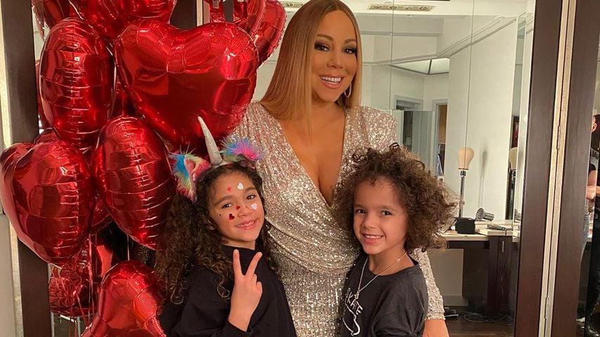 Sängerin Mariah Carey mit ihren Kindern