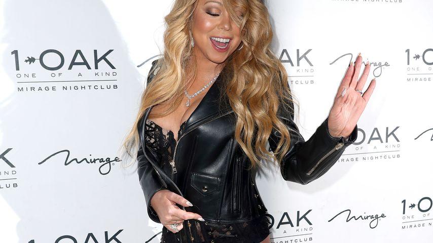 Strapsen-Outfit: Mariah Carey geht unten ohne zum neuen Job