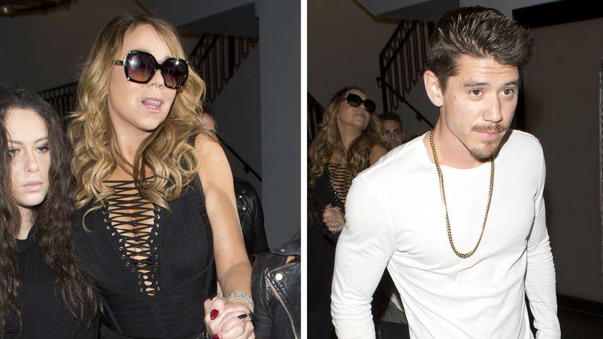 """Mariah Carey und Bryan Tanaka im Restaurant """"Catch"""""""