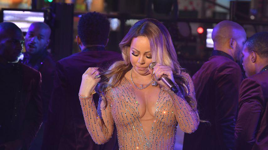 Mariah Carey zu Silvester am Times Square in New York