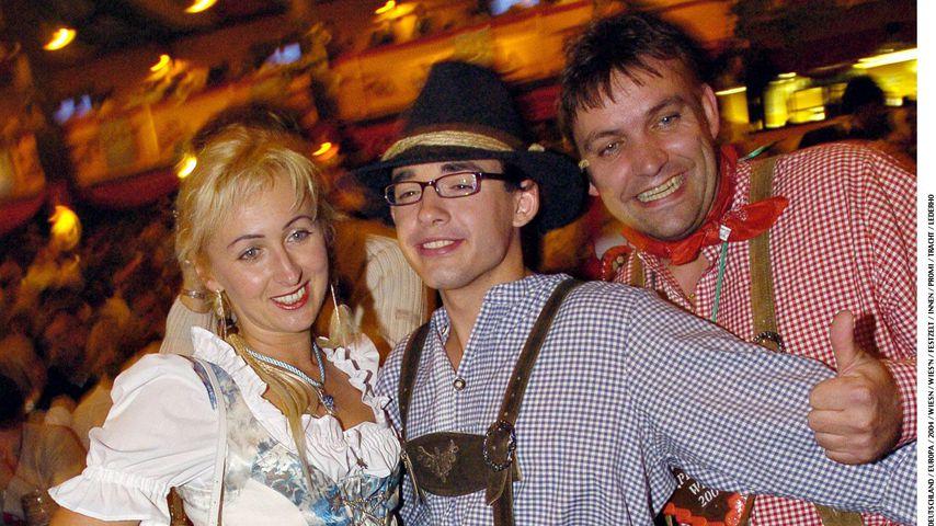 Daniel Küblböck (m.) mit seiner Stiefmutter Marianne und seinem Vater Günther