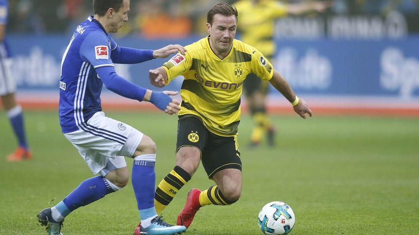 """Mario Götze beim Derby """"Borussia Dortmund"""" gegen """"FC Schalke 04"""", November 2017"""