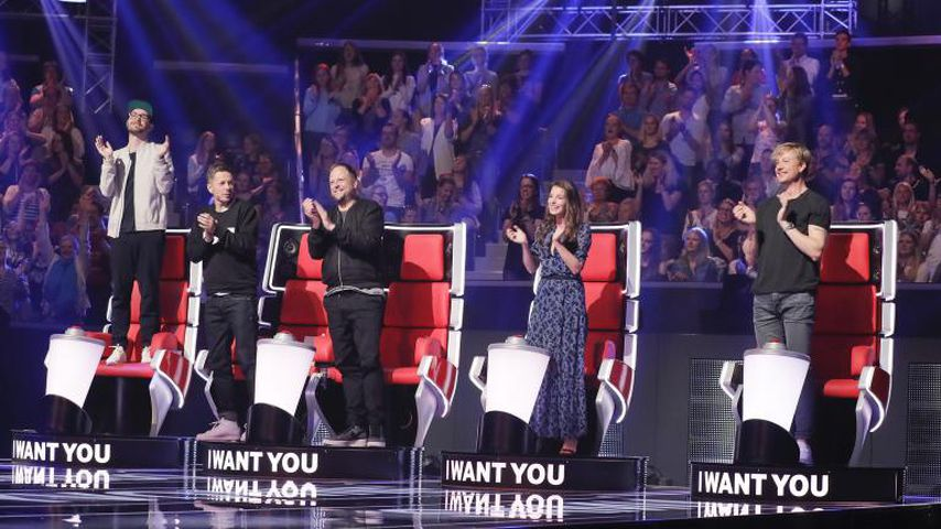"Mark Forster, Michi Beck, Smudo, Yvonne Catterfeld und Samu Haber bei ""The Voice of Germany"""