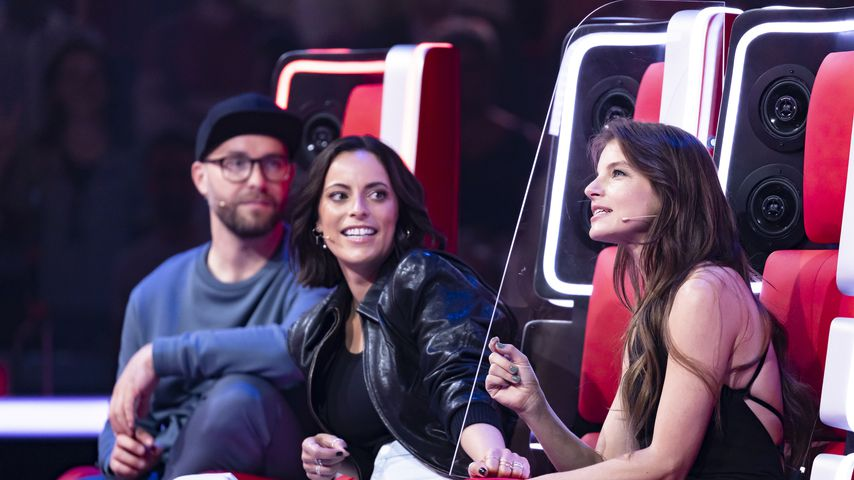 "Mark Forster, Stefanie Kloß und Yvonne Catterfeld bei ""The Voice of Germany"""