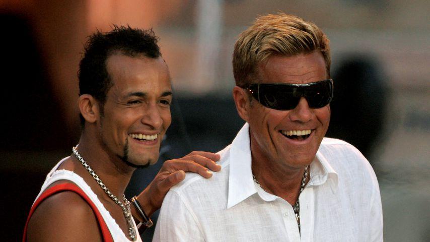 Mark Medlock und Dieter Bohlen bei einem Auftritt im Juni 2007