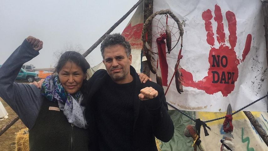 Mark Ruffalo beim friedlichen Protest gegen eine Öl-Pipeline
