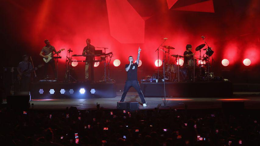 Maroon 5 bei einem Auftritt in San Antonio, Texas