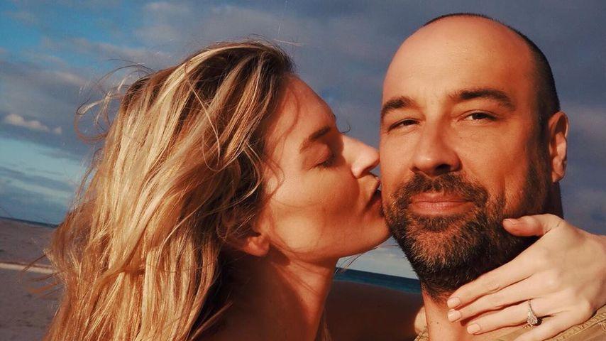 Martha Hunt und ihr Verlobter Jason Mcdonald im Januar 2020