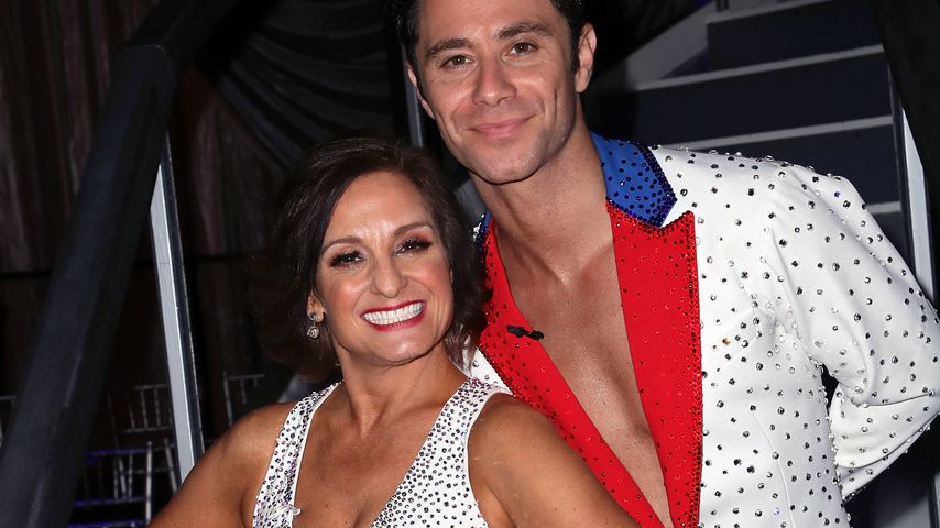 """Mary Lou Retton mit Sasha Farber bei """"Dancing with the Stars"""" 2018"""