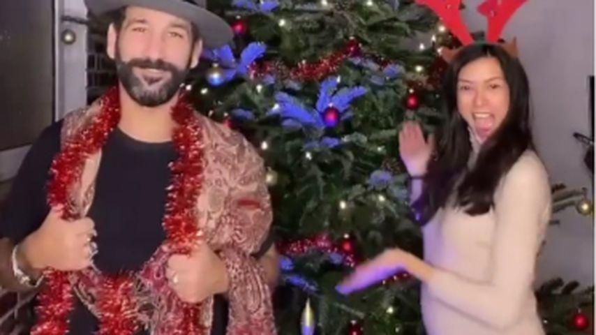 Süßes Weihnachts-TikTok: Rebecca Mir tanzt mit Babybauch