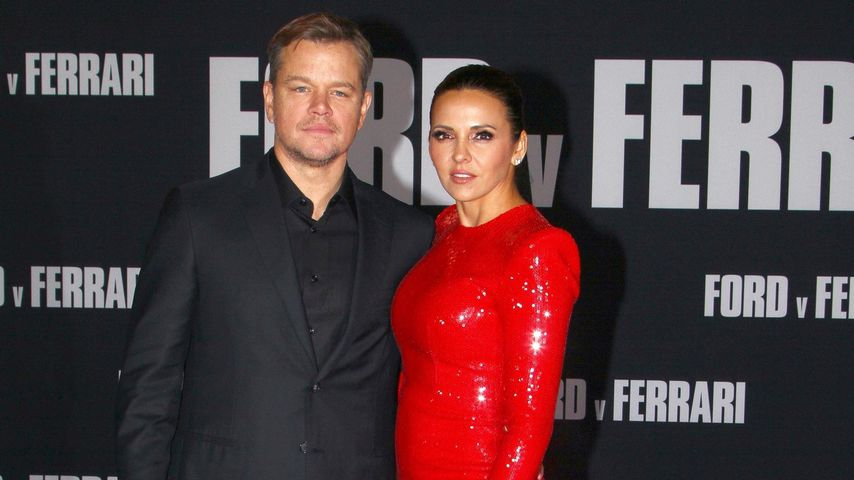 Matt Damon und Luciana Barroso, November 2019