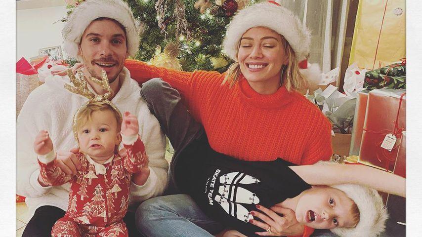 Matthew, Banks, Hilary und Luca an Weihnachten 2019