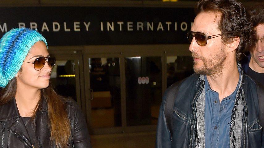 Leder-Duo! Matthew McConaughey & seine Camila