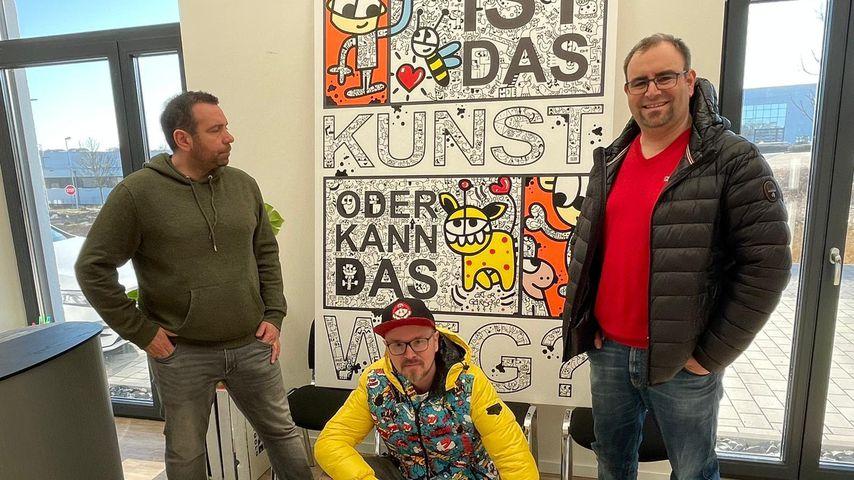 Matthias Distel alias Ikke Hüftgold und Jürgen Kadel alias Honk!