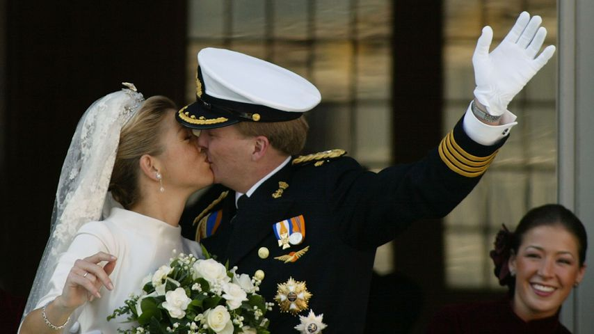 Máxima und Willem-Alexander bei ihrer Hochzeit 2002