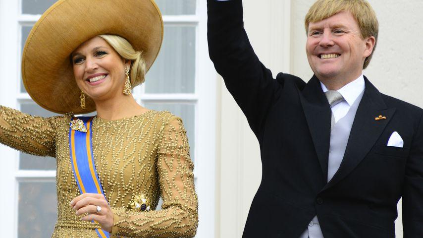 König Willem-Alexander & Maxima im goldenen Glanz
