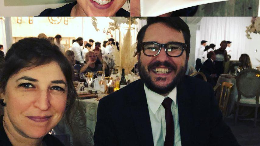 Mayim Bialik und Wil Wheaton auf der Hochzeit von Kaley Cuoco 2018