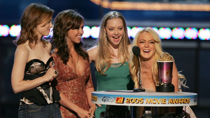 Rachel McAdams, Lacey Chabert, Amanda Seyfried und Lindsay Lohan bei den MTV Movie Awards 2005