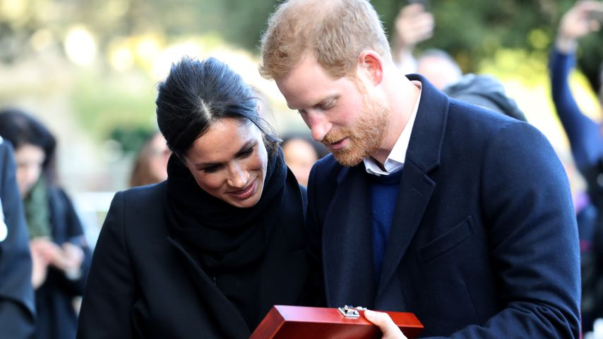 Meghan Markle und Prinz Harry in Cardiff