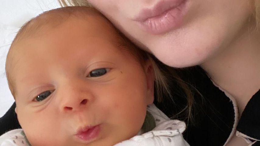 Meghan Trainor und ihr Sohn Riley im Februar 2021