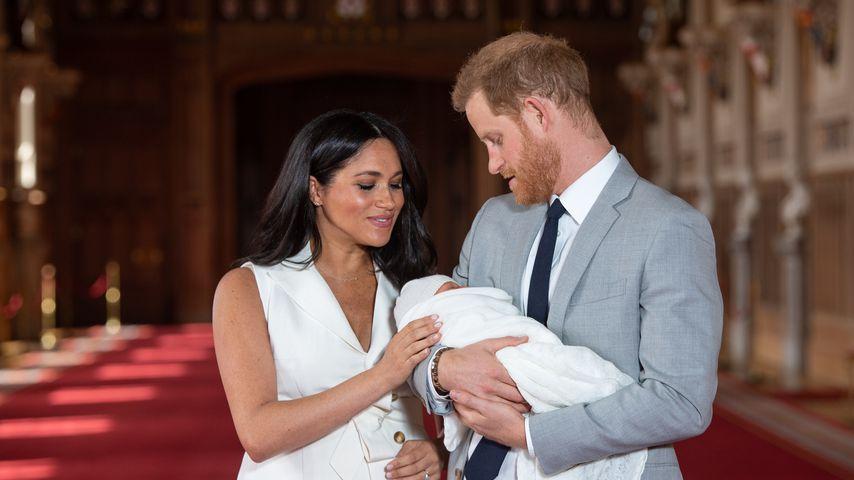 Herzogin Meghan und Prinz Harry mit ihrem Sohn, Mai 2019