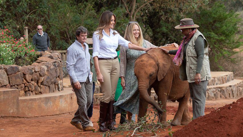 Melania Trump in einem Safari-Park in Nairobi