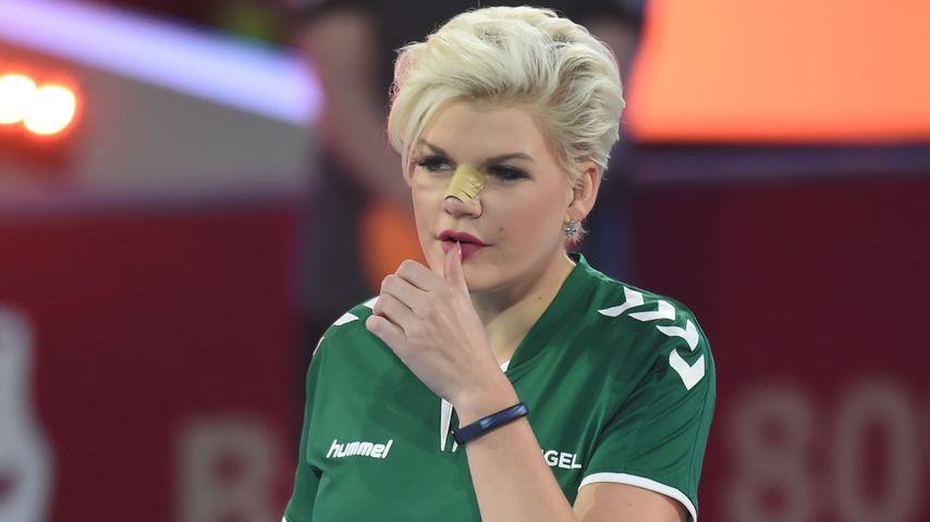 Melanie Müller bei der ProSieben Voelkerball Meisterschaft in Halle