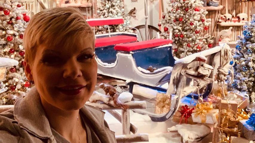 Melanie Müller beim Frühstücksfernsehen im Dezember 2019