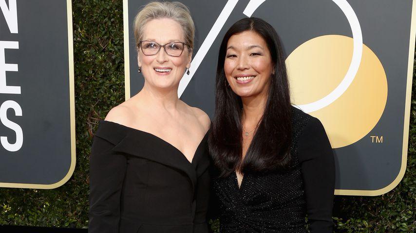 Meryl Streep und Ai-jen Poo bei den Golden Globe Awards