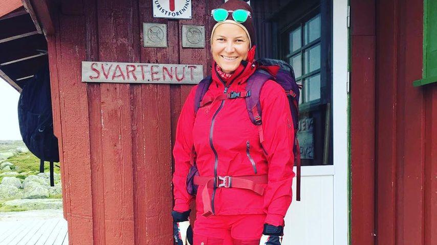 Mette-Marit von Norwegen bei einer Wanderung