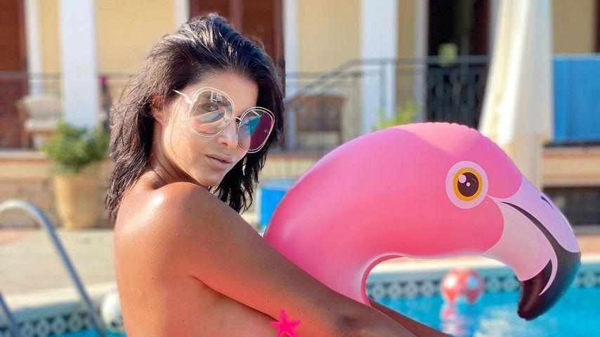 Micaela Schäfer sendet sexy Throwback-Grüße vom Pool