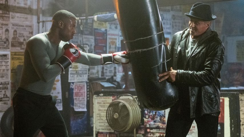 "Michael B. Jordan und Sylvester Stallone in ""Creed II"""