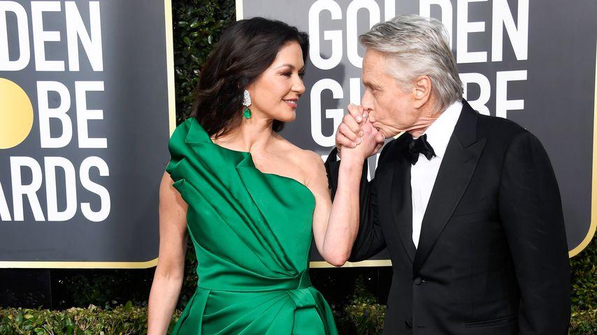Catherine Zeta-Jones und Michael Douglas bei den Golden Globe Awards in Beverly Hills