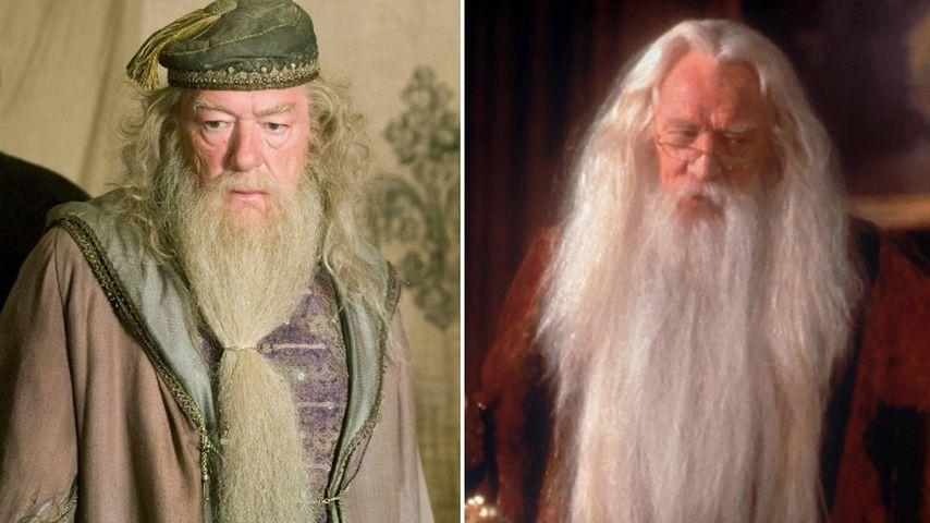 Michael Gambon und Richard Harris als Professor Dumbledore – Collage