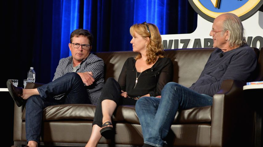 Michael J. Fox, Lea Thompson und Christopher Lloyd bei der Comic-Con in Rosemont, Illinois