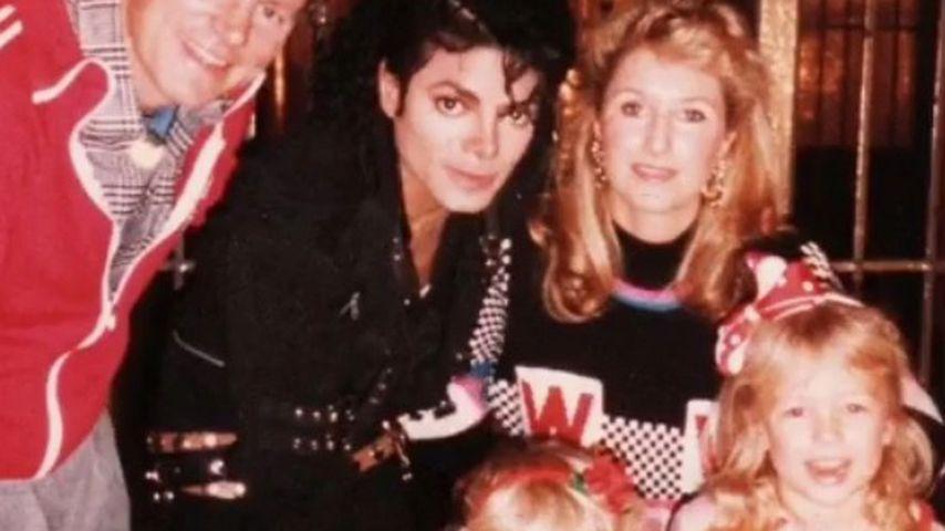 Michael Jackson mit der Hilton-Familie