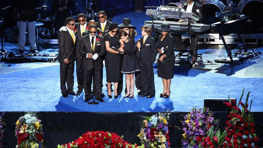 Michael Jacksons Trauerfeier im Jahre 2009 im Staples Center