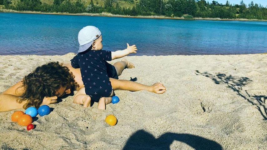 Michael Schulte mit seinem Sohn Luis, Juni 2019
