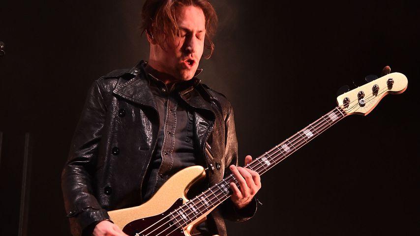Michael Shuman auf einem Konzert in NYC im Oktober 2017