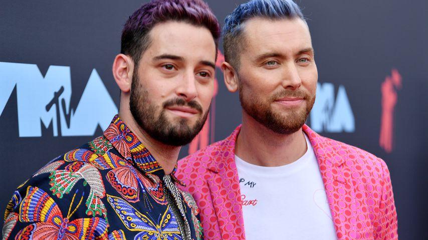 Michael Turchin und Lance Bass im August 2019