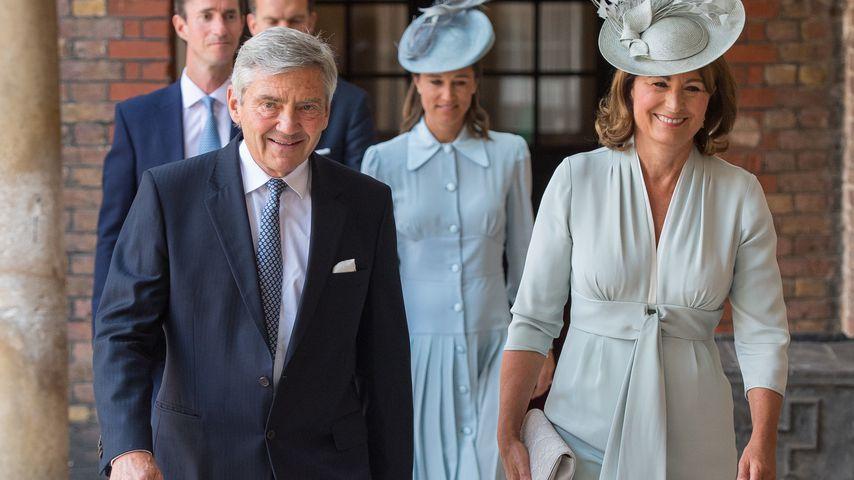Michael und Carole Middleton bei der Taufe von Prinz Louis