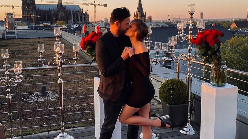 Michael Wendler und Laura Müller bei ihrer Verlobung