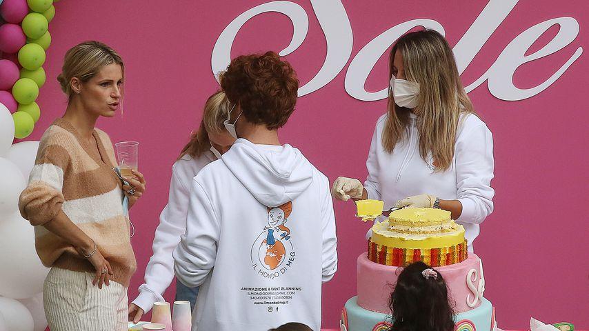 Michelle Hunziker auf der Geburtstagsfeier ihrer Tochter Sole